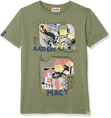 Jungen Khaki (LEGO Wear Jungen Lego Boy Nexo Knights Teo 605-T-Shirt, Grün (Dark Khaki 897), 140)