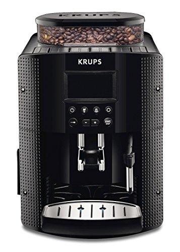 Krups EA815070 - Cafetera automática, 15 bares de presión, pantalla LCD, 3 niveles de intensidad de café, cantidad ajustable de 20 ml a 220 ml, programa automático de limpieza, molinillo integrado