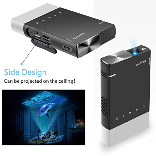 51%2B13JRKiQL. SS500  - Projector, Vamvo Mini Projector 1080p Supported, HD DLP LED Rechargeable Portable Projector Compatible with TV Stick…