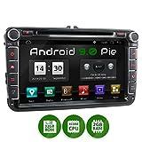 XOMAX XM-11GA Autoradio con Android 9 adatto per VW SEAT SKODA I Quad Core, 2GB RAM, 32GB ROM I Navigatore GPS I Supporto WIFI, 4G, DAB, OBD2 I Bluetooth I Touch Screen 8'' I DVD, CD, USB, SD, RDS