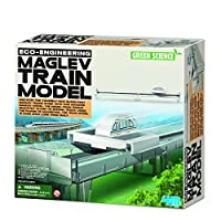 Jardines Online Warehouse Fun little project - No 1 Selling Birthday or Xmas Present Idea For kids Age 8+ Green Science Maglev Train Model