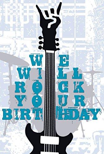 Grupo Erik Editores TF01019 - Tarjeta de felicitación, 11 x 16 cm, texto en inglés We Will Rock Your Birth