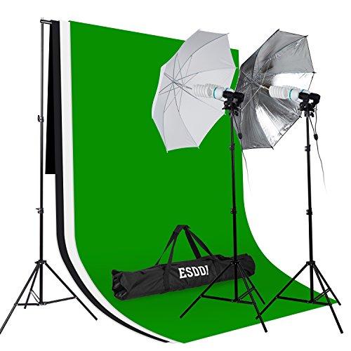 ESDDI Hintergrund-Set inkl. Stoff (3 Farben), Schirme und Lampen