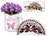 Best Gift for Valentine   Valentine Gifts for Her   Valentine Gifts for Her Peacock Shaped Hair Clip and Valentine's Special Coffee Mug with Bunches o best price on Amazon @ Rs. 699