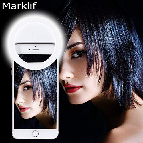 Marklif FL-36 Double Bright Soft White Color Selfie Ring Light with 3 Modes and 36 LED for Smartphones
