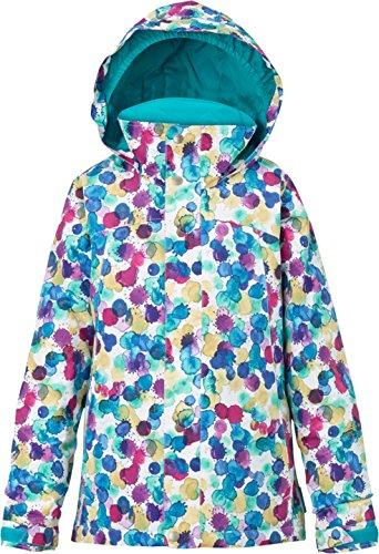 Giacca da ragazza da snowboard Burton Elodie Jacket, Bambina, Snowboardjacke GIRLS ELODIE JACKET, Rainbow Drops, (Giacca Ragazzi Sistema)