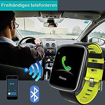 Yamay Smartwatch Bluetooth Smart Watch Uhr Mit Pulsmesser Armbanduhr Wasserdicht Ip68 Fitness Tracker Armband Sport Uhr Fitnessuhr Mit Schrittzähler,schlaf-monitor,setz-alarm,stoppuhr,sms-, Anruf-benachrichtigung Pushkamera-fernsteuerung Musik Für Android Und Ios Telefon 6