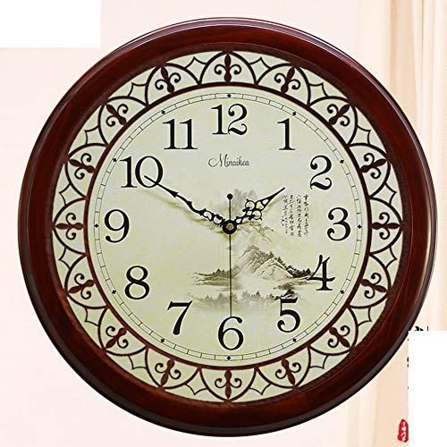 Dw hckk m&t orologio da parete/oggetti di decorazione cinese mute orologio da parete/antiquariato moderno salone di giardino ore legno massello - 20