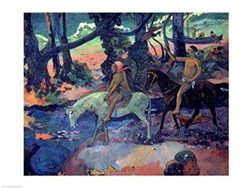 paul-gauguin-the-escape-the-ford-1901-fine-art-print-9144-x-6096-cm