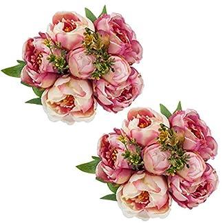 Shacos – Ramo de flores artificiales de tulipán, 20 unidades, ideal para bodas o bodas, diseño de flores artificiales