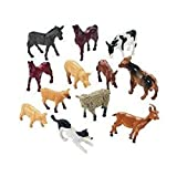#6: Siddhi Vinayak™ Medium size farm animals pack of 12 (material-rubber)