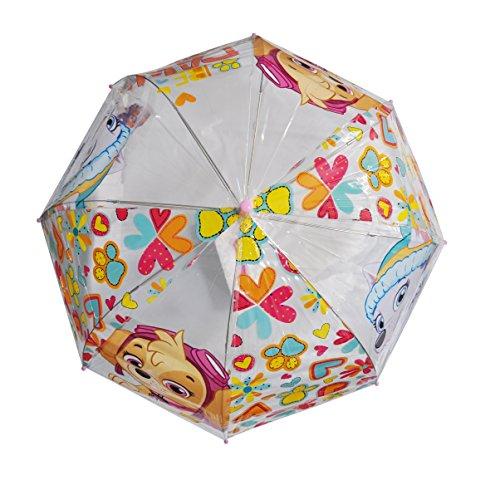 Patrulla Canina Diseño niñas - Paraguas infantil, en forma de burbuja, transparente, manual - Arditex PW11480