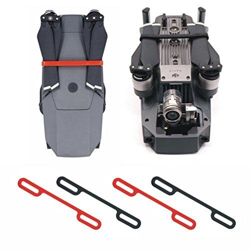 Preisvergleich Produktbild Rantow 4 Stück Befestigung Propeller Klemme Für DJI Mavic Pro Drone Klingen Transporthalter Quadcopter Propeller Fix Clip, 2 Stück Rot + 2 Stück Schwarz