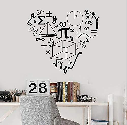 Matematica Amore Modello Parete Adesivi Per Scuola Matematica Vinyl Parete Decal Decor Teen Room Decorazione Art Murales W406 42 * 47Cm Nero