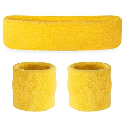 suddora-headband-wristband-set-sports-sweatbands-for-head-and-wrist-neon-yellow
