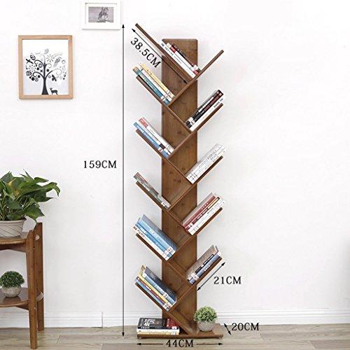 GRY Einfaches Kind Studie Bambus Bücherregal Office Student Landing Tree Form kreative Bücherregal,159cm -