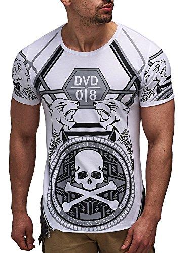 David&Gerenzo Herren T-Shirt oversize 1-10088 Weiß