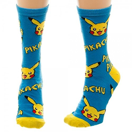 pokemon-pikachu-print-juniors-crew-calze