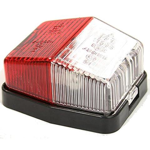 Jokon SPL115 Red Clear Side Marker Caravan Towing Trailer Light Reflector 12v