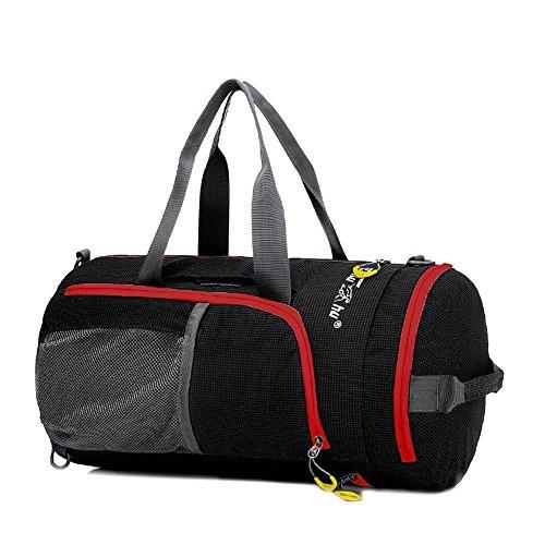 MiniDream® Impermeabile e Pieghevole Leggero vacanze da viaggio borsa business Weekend Borsone Sport Vela Palestra Borsone Zaino Zaino nero Black carry-on Black