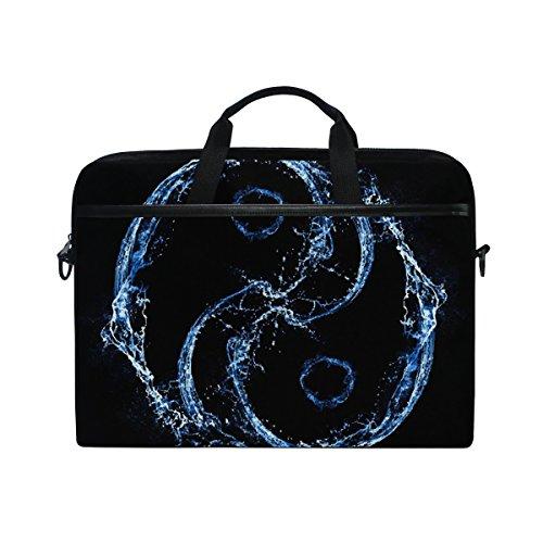 jstel Tai Chi Bagua Yin Yang Spray AIT Laptop Schulter Messenger Tasche Fall Sleeve für 35,6cm zu 39,6cm mit verstellbarer Notebook Schultergurt (Engen Spray)