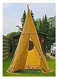 Indianerzelt Kinderzelt XXL 2,86 Meter Hoch Naturstoff Zelt Spielzelt Kinderspielzelt Tipi