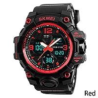 jianghang valuable Army Sport Quartz Wrist Men Analog Digital Watch Waterproof Military 1pcs(None A)