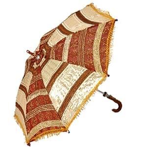 Little India Colorful Handicraft Design Rajasthani Umbrella  (HCF216,)