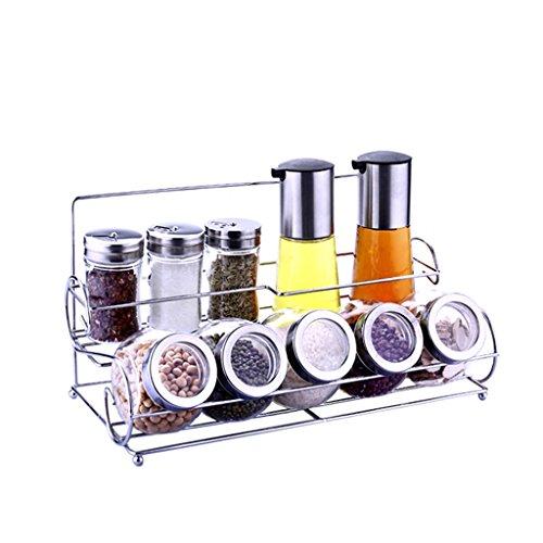 Ds scaffale forniture da cucina portaspezie portasalviette in vetro sale portasciugamani da cucina set di bottiglie di condimento per la casa # (dimensioni : b)
