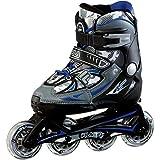 Fila Skates X-One Rollers en Ligne, Enfants M Noir/Bleu