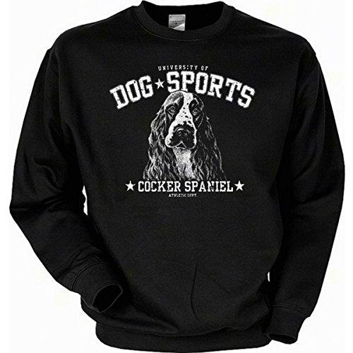 Hunde Cocker Spaniel Sweatshirt Gr XXL in schwarz (Baumwolle Cocker Spaniel Sweatshirt)