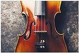 Wallario selbstklebendes Poster - Nahaufnahme Einer Alten Violine in Premiumqualität, Größe: 61 x 91,5 cm (Maxiposter)