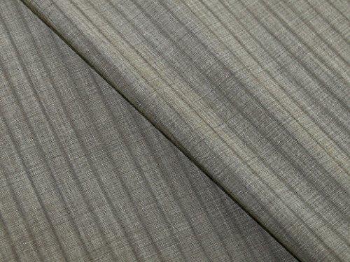 Wolle Nadelstreifen Passend (Italienisches 100% Virgin Wolle Nadelstreifen passend Kleid Stoff Taupe-Meterware)
