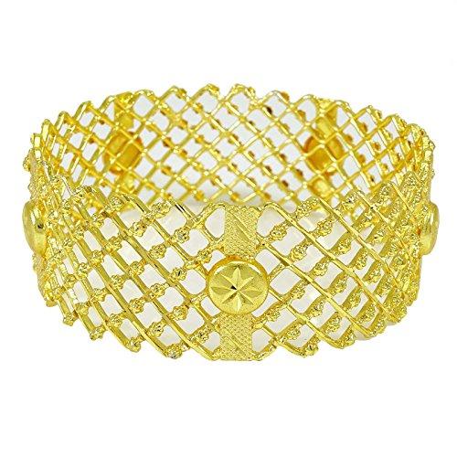 Banithani 18K Gold Überzogene Ethnische Bollywood Kada Armreif Traditionellen Schmuck Geschenk Für Frauen 2 * 8