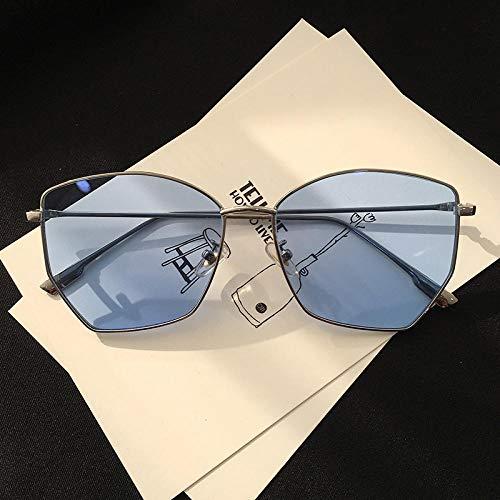 CYCY Sonnenbrille Herren Tide Retro Big Frame Brille Damen Sonnenbrille, Sky Blue