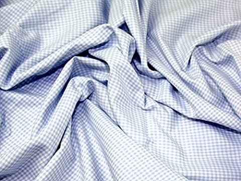 Truella Mini Gingham Check Brushed Soft Cotton Dress Fabric Pale