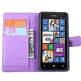 Tasche für Nokia Lumia 625 Hülle, Ycloud PU Ledertasche Flip Cover Wallet Case Handyhülle mit Stand Function Credit Card Slots Bookstyle Purse Design lila
