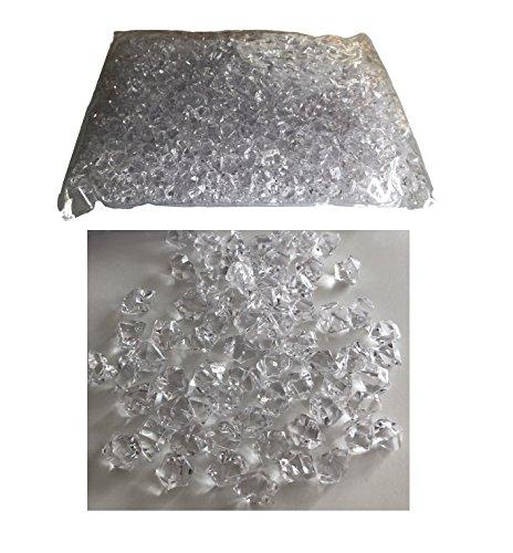 Rhinestone Paradise 0,5 kg Streudeko Deko-Diamanten klar transparent 3cm Tisch-Deko Glitzer-Steine Brillanten Strass-Steine bunt Bastelset