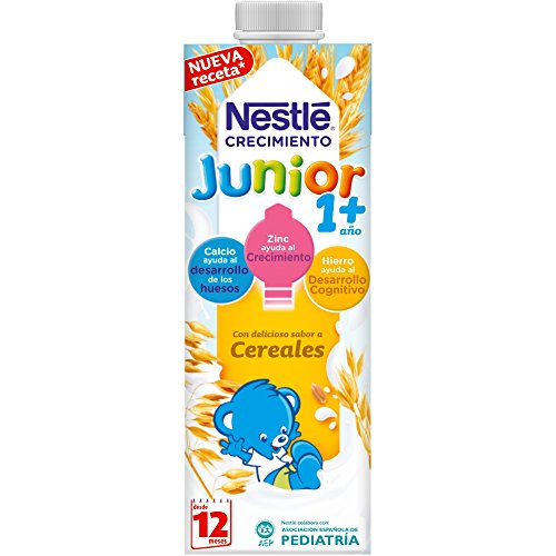 NESTLÉ JUNIOR Crecimiento 1+ Cereales 6x1L