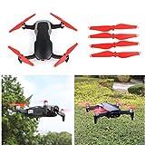 Hunpta@ Propeller,geräuscharmer Propeller für DJI Mavic Air Drone RC,Schnellentriegelung (Rot)
