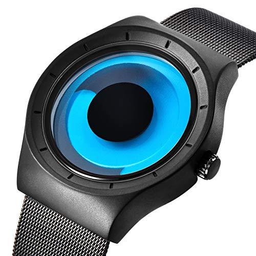 Uhr, Herrenuhren Unisex Coole Kreativ Mode Trend Strudel Zifferblatt Kein Zeiger Armbanduhr