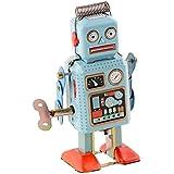 Peradix Funny Dark Green Clockwork Spring Walking Robot Retro Mechanical Toy Gift