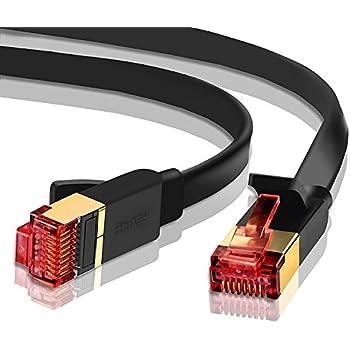 U//FTP InLine ® cavo patch Slim 0,5m cat.6a Nero