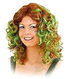 Orlob gelockte Damen Perücke Waldfee in braun-grün zum Kostüm Hexe Nymphe