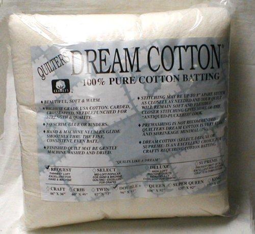 Quilter 's Dream Baumwolle Weiß Vlies-Select-Mid-Loft-Queen (Queen Batting Quilt)