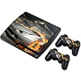 Zhhlaixing Vinyl Decal Protection Cover per PS3 PlayStation 3 Slim+2 Controllers