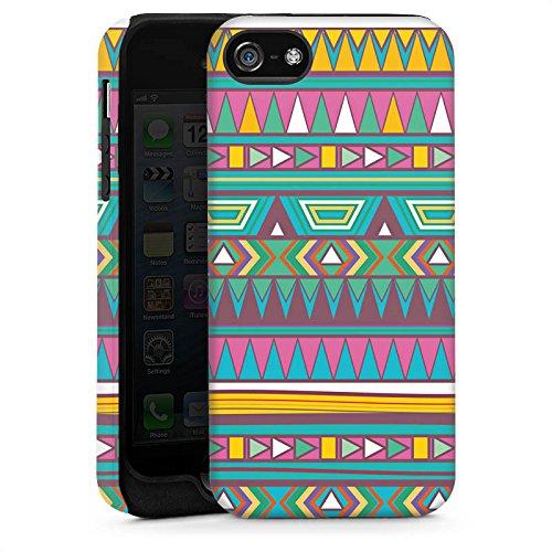 Apple iPhone 5s Housse Étui Protection Coque Motif Motif couleurs Cas Tough brillant