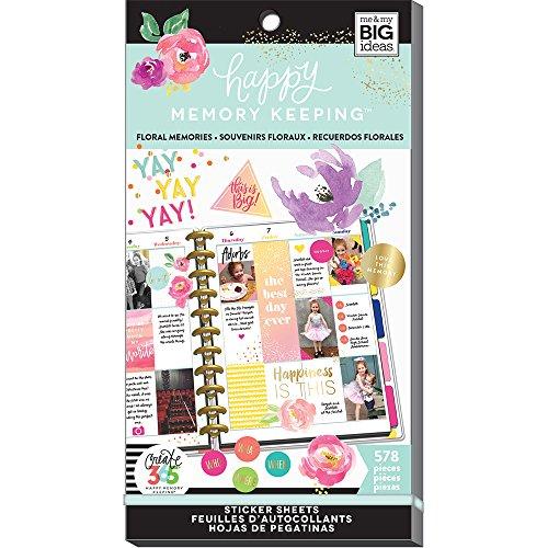 Unbekannt Me & My Big Ideas mamppsv3048.28365Big Floral Memory HMK erstellen Aufkleber Value Pack