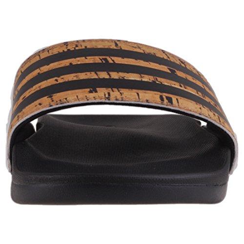 adidas Adilette Cf+ Cork, Scarpe da Spiaggia e Piscina Uomo Nero (Core Black/core Black/core Black)