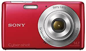 Sony Cyber-shot DSC-W620 14.1MP Point-and-Shoot Digital Camera (Red) with Camera Case